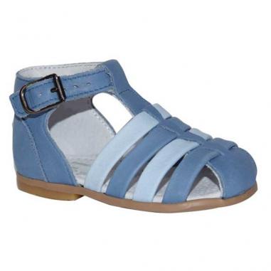 Sandales de couleur bleu ciel de la marque Little Mary pour enfants