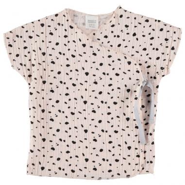 Tee-shirt pour bébés de couleur rose poudré de la collection été Bean's Barcelona