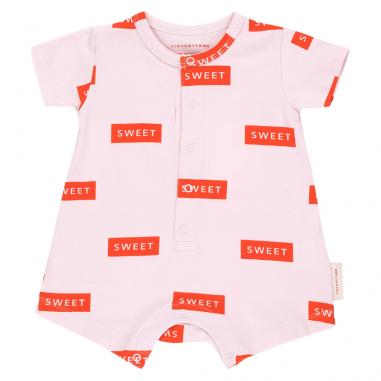Combinaison de couleur rose à imprimé sweet pour bébés de la marque espagnole Tinycottons