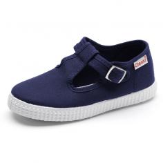 Chaussures en coton organique de couleur marine pour enfants de la marque Cienta au meilleur prix