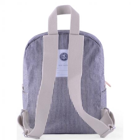 sac à dos à rayures bleu et crème pour enfants de la collab Jojo Factory et Le Petit Germain à petit prix