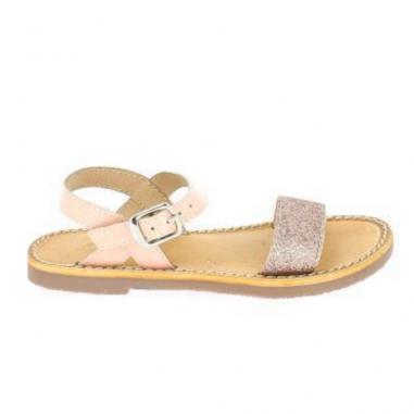Sandales de couleur rose poudré pour enfants de la marque L'atelier tropézien au meilleur prix