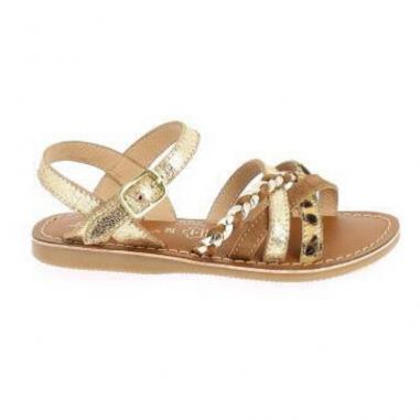 belles sandales de couleur or et léopard pour petites filles et femmes de la marque L'atelier tropézien au meilleur prix