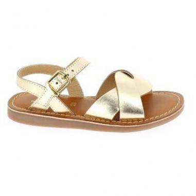 Jolie paire de sandales de couleur or pour petites filles de la marque l'Atelier tropézien au meilleur prix