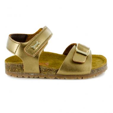 Sandales de couleur or pour petites filles de la marque Stones and bones