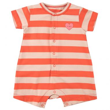 Jolie barboteuse à rayures rouges pour bébés de la marque Tinycottons au meilleur prix