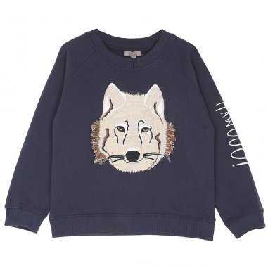 Sweatshirt marine pour enfants de la marque Emile et Ida