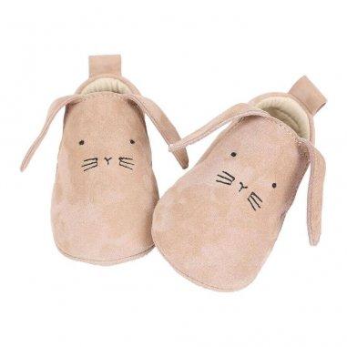 Chaussons lapinchou sable pour bébés de la marque Emile et Ida