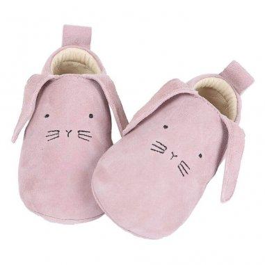 Chaussons lapinchou rose pour bébés de la marque Emile et Ida