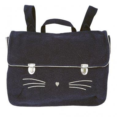 Cartable chat marine pour enfants Emile et Ida