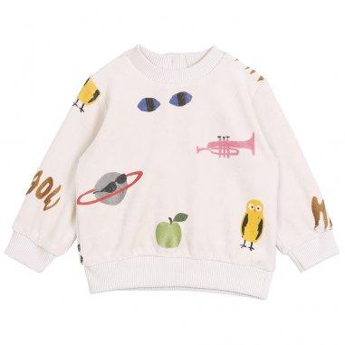 Sweatshirt écru multicolore pour bébés de la marque Emile et Ida