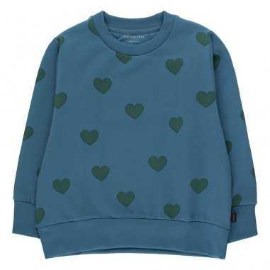 Sweatshirt cœurs pour enfants de la marque Tinycottons