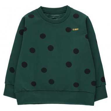 Sweatshirt vert pour enfants de la marque Tinycottons