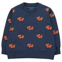 Sweatshirt bleu pour enfants Tinycottons