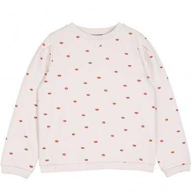 Sweatshirt bisous pour bébés de la marque Emile et Ida