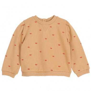 Sweatshirt bisous ambre pour enfants de la marque Emile et Ida