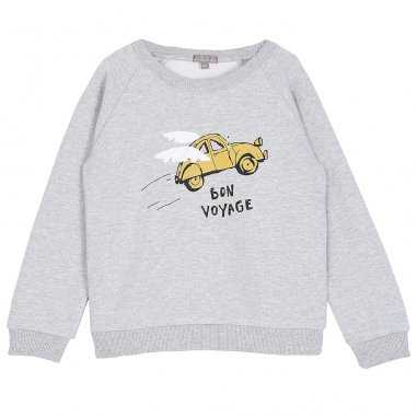 Sweatshirt gris bon voyage pour...