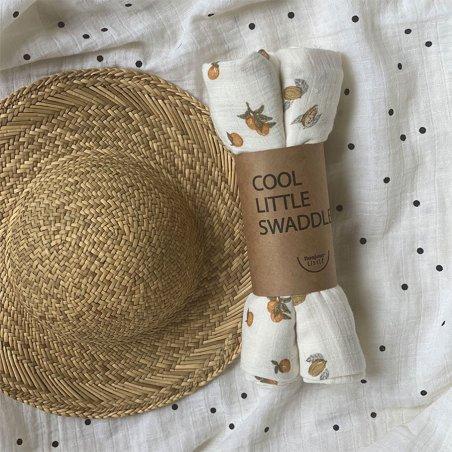 Langes en double gaze de coton biologique pour bébés Bonjour Little