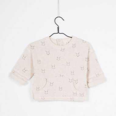 Sweatshirt lapin crème pour enfants de la marque Les Petites Choses