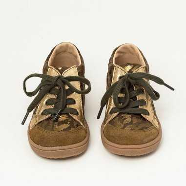 Chaussures kaki léopard pour enfants de la marque Patt'touch