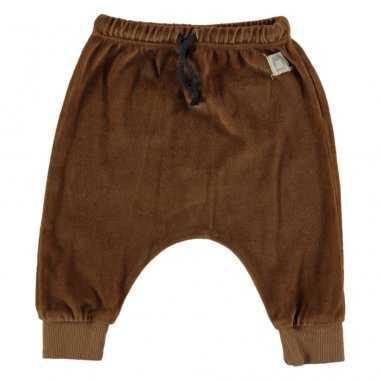 Pantalon sarouel caramel en velours pour enfants de la marque Bean's Barcelona
