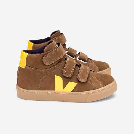 Sneakers montantes caramel pour enfants de la marque Veja