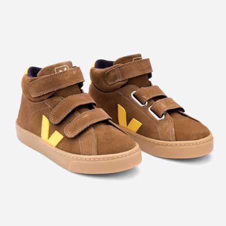 Sneakers caramel pour enfants Veja