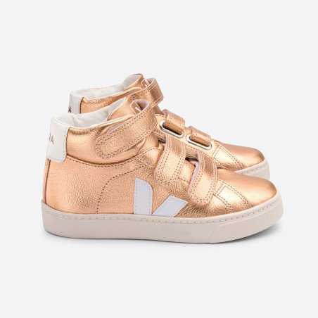 Sneakers montantes rose gold enfants Veja