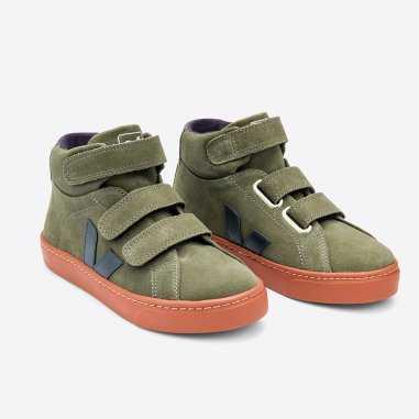 Sneakers montantes vertes pour enfants de la marque Veja