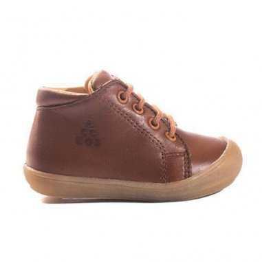 Chaussures premiers pas cognac pour enfants de la marque Acebos
