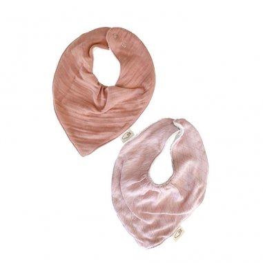 Duo de bavoirs bandana pour bébés de la marque Milinane