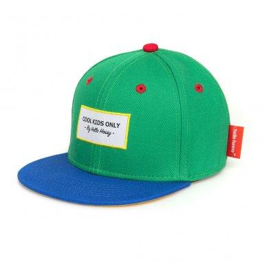 Casquette de couleur verte et bleu pour bébés et enfants de la marque Hello hossy
