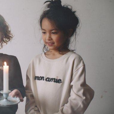 Sweatshirt mon amie écru pour enfants de la marque Emile et Ida