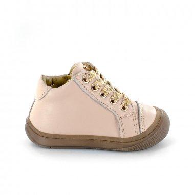 Chaussures premiers pas rose pour enfants de la marque Stones and Bones