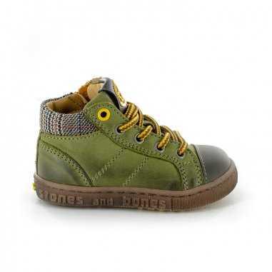 Chaussures montantes vertes pour enfants de la marque Stones and Bones