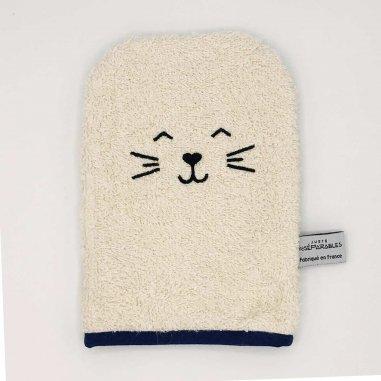 Gant de toilette chat pour enfants de la marque Juste Inséparables
