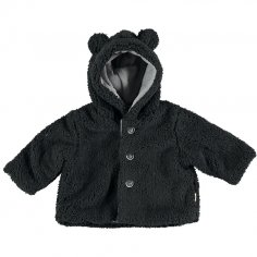 Manteau noir pour enfants de la marque Petit Indi