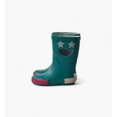 Bottes de pluie wistiti star verte pour enfants de la marque Boxbo