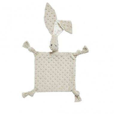 Doudou sensoriel grand lapin gris clair pour bébés de la marque Elva Senses