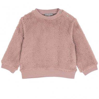 Sweatshirt peluche rosa pour bébés de la marque Emile et Ida