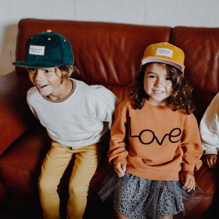Casquette verte en velours pour enfants de la marque Hello Hossy