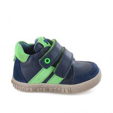 Chaussures bleu et verte pour enfants de la marque Stones and Bones