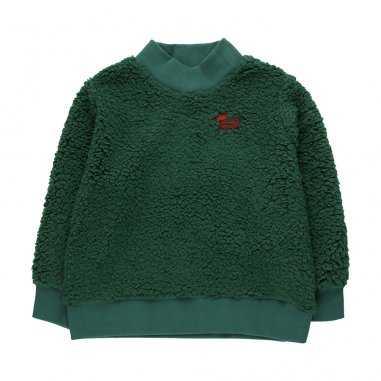 Sweatshirt peluche vert pour enfants de la marque Tinycottons