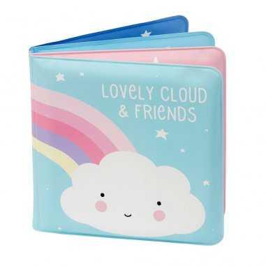 Livre de bain nuage pour bébés de la marque A little lovely company