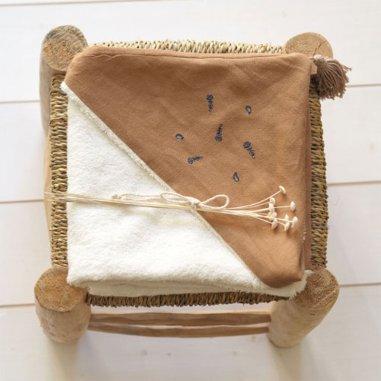 Cape de bain noix de pécan pour enfants de la marque Capuchon