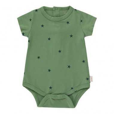 Body de couleur vert pour bébés de la marque Tinycottons
