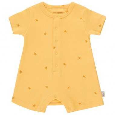 Barboteuse de couleur jaune pour bébés de la marque Tinycottons