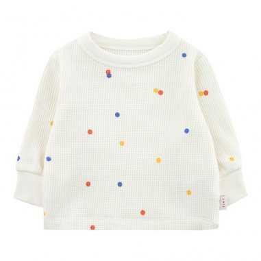 Sweatshirt blanc ice cream pour bébés de la marque Tinycottons