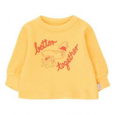 Sweatshirt de couleur jaune pour bébés de la marque Tinycottons