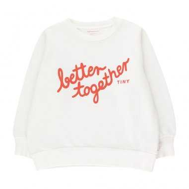 Sweatshirt de couleur blanc Better Together pour enfants de la marque Tinycottons